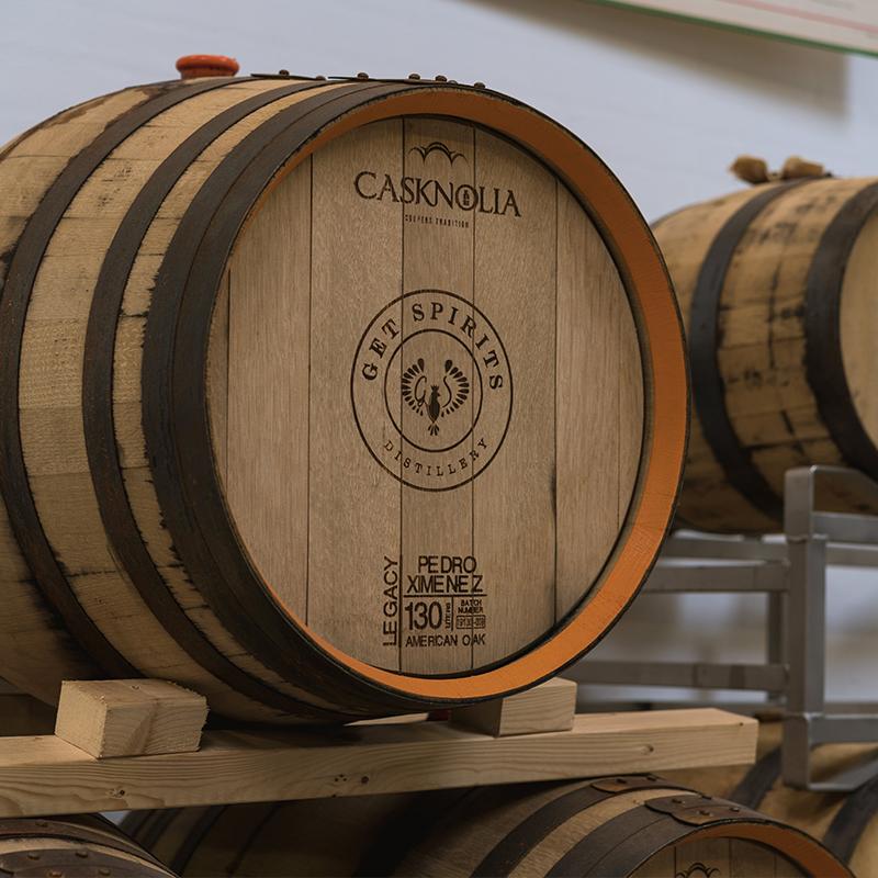 Getspirits Distillery smuk gammel tønde af egetræ